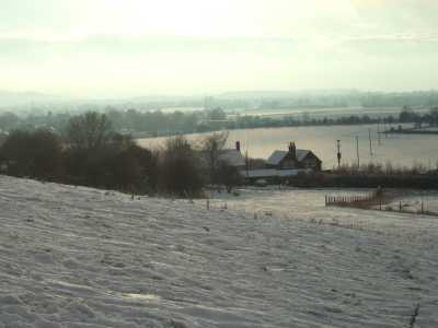 Snow and Ice overlooking All Cannings Dec 2010